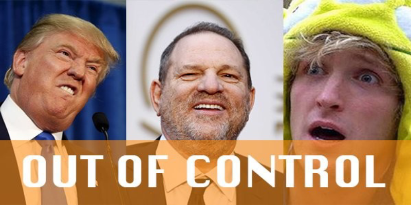 emotions these recent happenings - Trump, Weinstein and Logan Signal