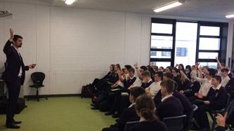 Fionn Wright in Study Skills seminar