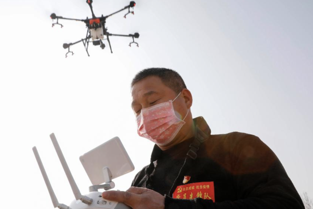 China fill the skies with drones to monitor people with coronavirus