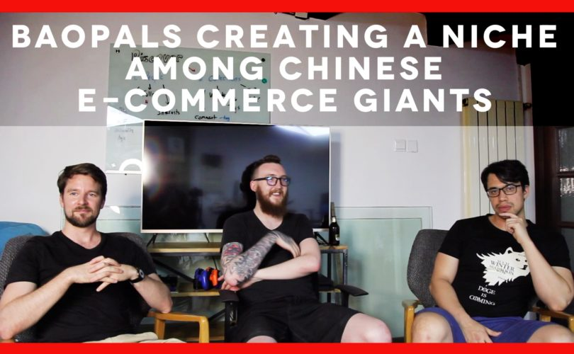 Title Episode 1: Baopals Creating a Niche Among Chinese E-Commerce Giants and rise above China tech industry with an images of Jay Thornhill, Tyler McNew and Charlie Erickson
